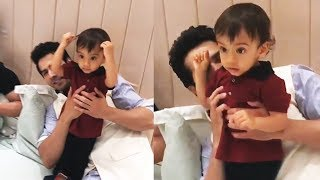 Download Varun Dhawan PLAYS With Salman's Nephew AHIL At Eid Party 3Gp Mp4