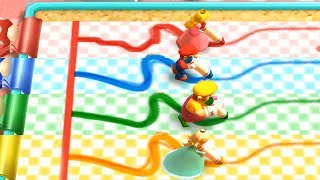 Mario Party The Top 100 - Trace Race - Peach vs Rival Very Hard Difficult| Cartoons Mee