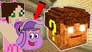 Minecraft: DORA THE EXPLORER LUCKY BLOCK!!! (DORA'S BACKPACK, SWIPER, & BOOTS!) Mod Showcase