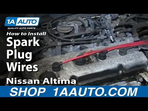 How To Install Change Spark Plug Wires Nissan Altima 2.4L