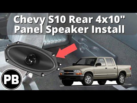 1998 - 2004 Chevy S10 Blazer Jimmy Sonoma Rear Panel Speaker Install