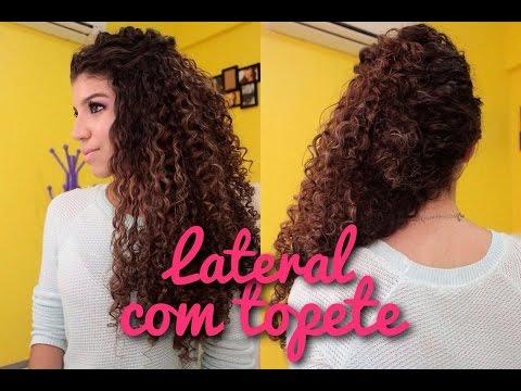 Penteado Lateral com Topete (Cabelo Cacheado)