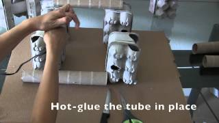 Egg carton bridege hide tutorial