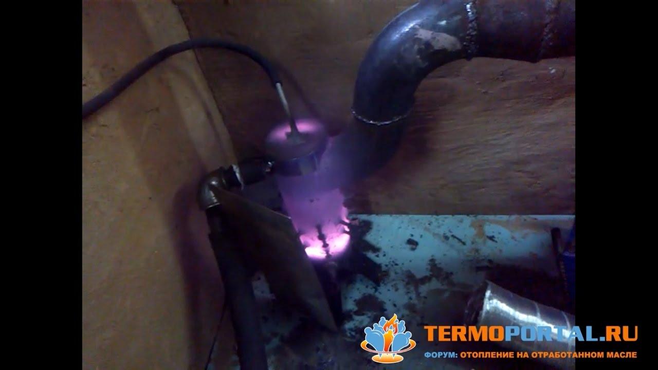 472Горелка в печь на отработанном масле своими руками