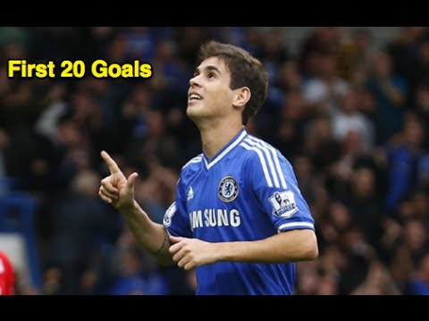 Oscar Dos Santos - First 20 Goals For Chelsea FC - HD