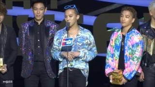 151202 Big Bang receiving Artist of The Year Award @ MAMA 2015