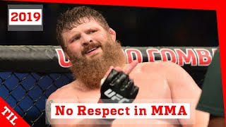 No Respect and Poor Sportsmanship in MMA