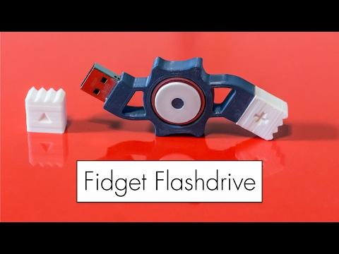 Fidget Flashdrive // 3D Printed Fidget Spinner