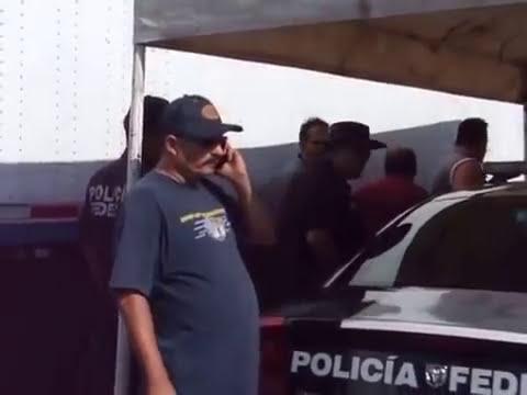 Traileros llegan a los golpes frente a policías federales tras bloquear ruta alterna