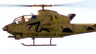 Bell AH-1 Huey Cobra or SNACKE R/C Turbine Helicopter flight demonstration