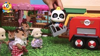 Panda Fireman Rescue Team, Baby Panda's Cooking Competition,Dinosaur Story  Kids Toys Story   ToyBus