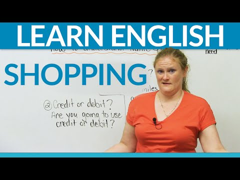 Learn Real English - Shopping video