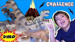 Building JURASSIC WORLD Fallen Kingdom CHALLENGE! Dinosaur Toys | Kids vs Dad (Rich)