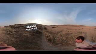 360° sunset hike on the Oregon Trail at Keeney Historic Site