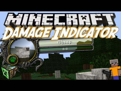 Minecraft: Damage Indicator Mod 1.7.5 Review - Lebensanzeige für Mobs