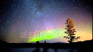 Time Lapse Aurora Borealis Shooting Stars Night Sky Norwegian Sky Natural Solar Light Northern Light