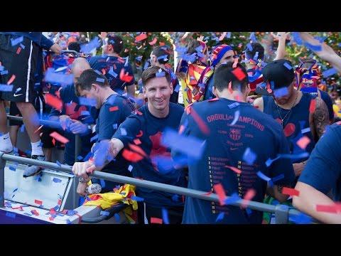 FC Barcelona - La rúa de los campeones de Liga 2016