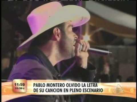 Pablo montero se desnuda en pleno escenario