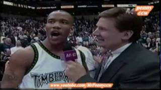Allen Iverson vs. Stephon Marbury 96/97 NBA *1st meeting between them *very rare