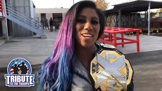 NXT Women's Champion Ember Moon reveals her favorite experience at WWE Tribute to the Troops
