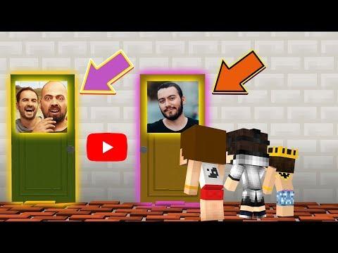 EN SEVMEDİĞİM YOUTUBER - DOĞRU KAPIYI SEÇ (Minecraft)