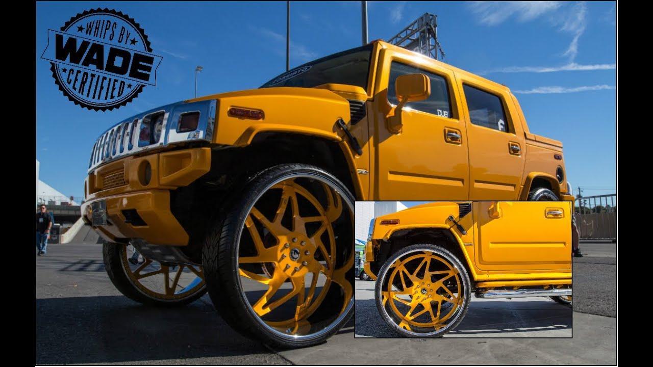Sema 2014 Hummer On 34 Inch Forgiato Wheels Youtube