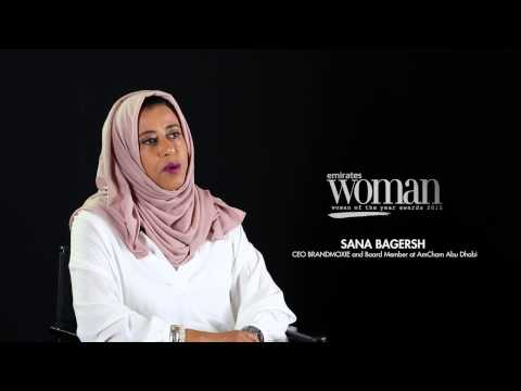 Emirates Woman Woman Of The Year Awards 2015, Achievers Nominee — SANA BAGERSH
