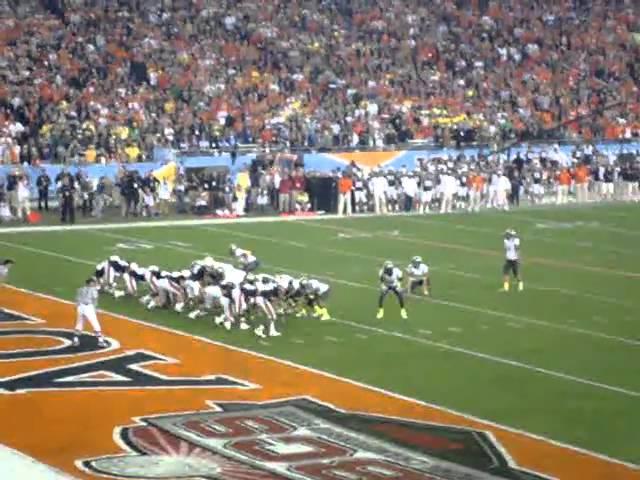 Oregon RB LaMichael James scores a touchdown vs. Auburn 1-10-2011