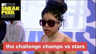 Cardi B's Sister, Hennessy, is Too Good for Champs v. Stars | The Sneak Peek Show | MTV