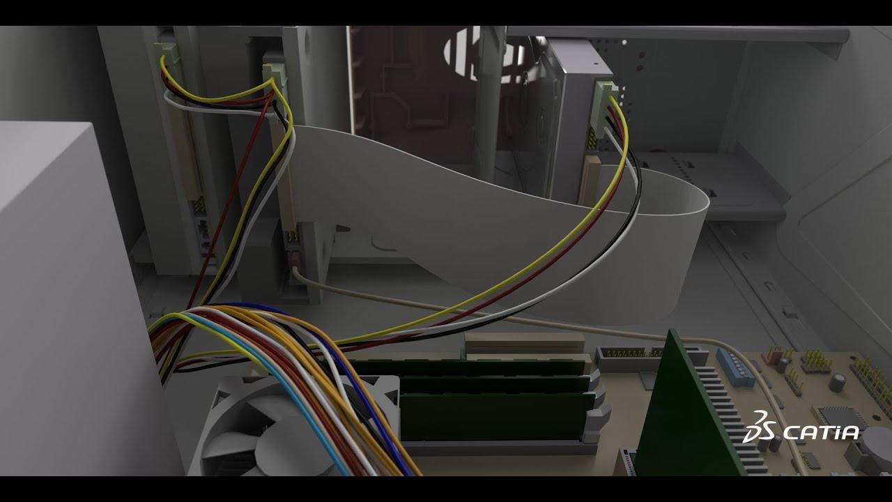 Catia V6 Electrical Amp Wire Harness Design Flat Ribbon