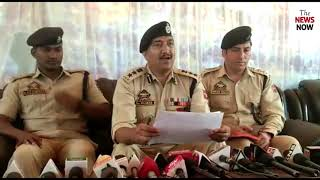 SSP Srinagar Dr. Haseeb Mugal addressing media over theft case around 34 lakhs, one thief arrested .