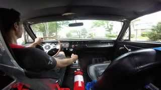 65 mustang twin turbo take a ride under boost