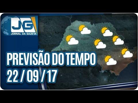 Previsão do Tempo - 22/09/2017