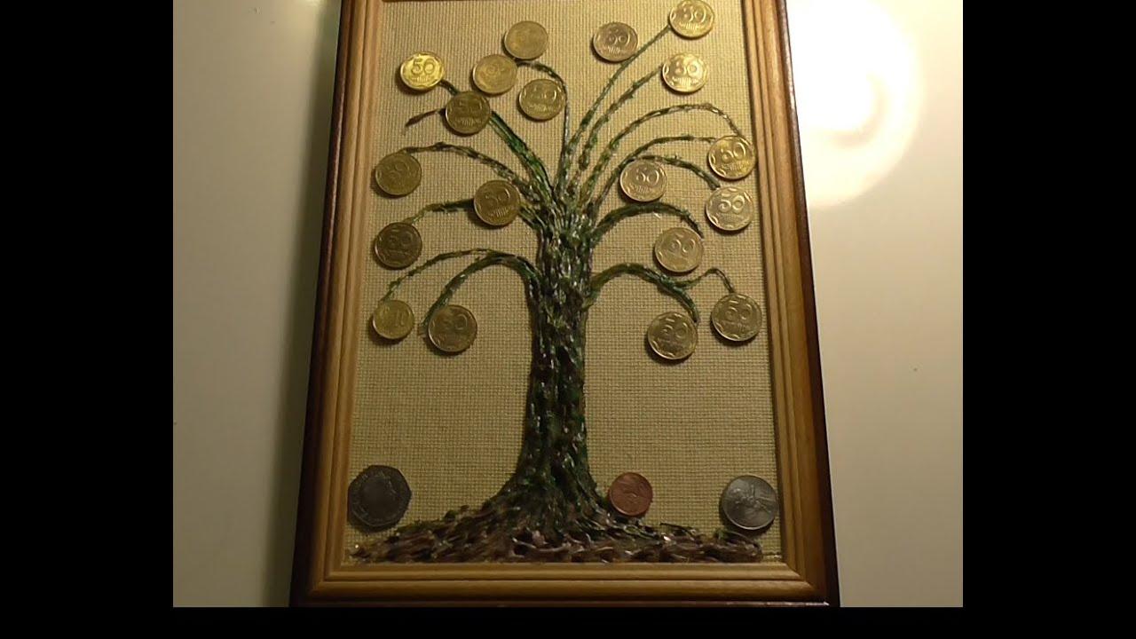 Как сделать панно денежного дерева 449