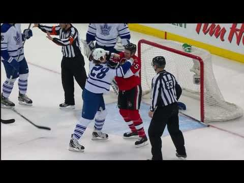 Sissy Neil chickens out!!! in the 1st Period. Makes up for it later and gets 0wned! Toronto Maple Leafs @ Ottawa Senators NHL 2010-11 Reg-Season Toronto Maple Leafs Game #37 http://twi...