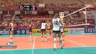 ไทย - อเมริกา Thailand - USA Volleyball World Grandprix 2012 - Ningbo