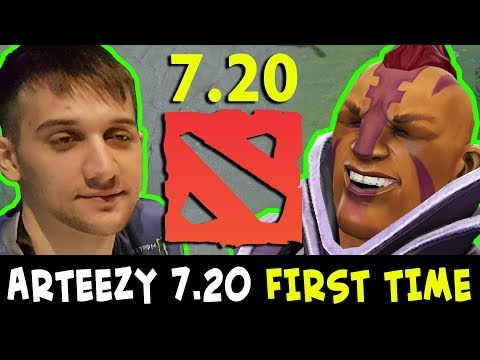 Arteezy in 7.20 FIRST TIME — NEW Anti-Mage EZ COUNTER Bounty Hunter