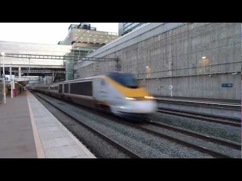 Eurostar Class 373 passing Stratford International.