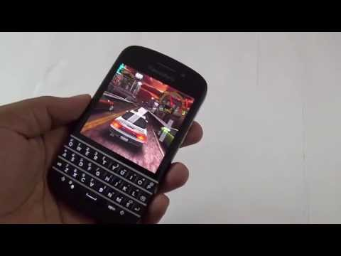 BlackBerry Q10 Gaming Review - NFS, Amazing Spiderman & Angry BIrds