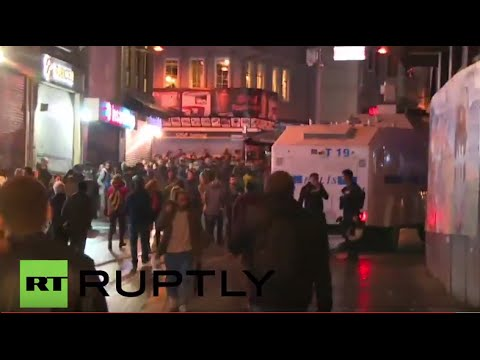 Turkey: Police deploy water cannon at protest against killing of top Kurdish lawyer