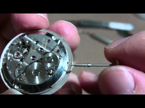 How I remove a wrist watch stem and crown. screw type.  Wittnauer watch 11BG3.
