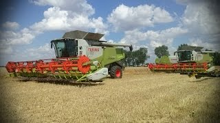 Żniwa 2014 - Fendt 936 Vario // 4 x Claas Lexion 770 & 660 // New Holland CR9090/t7.270