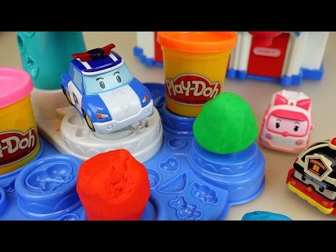 Robocar Poli car toys and Play doh