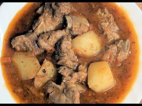 Costillas de cerdo guisadas Vídeo receta 129 Aquí cocinamos todos. Cooking recipe