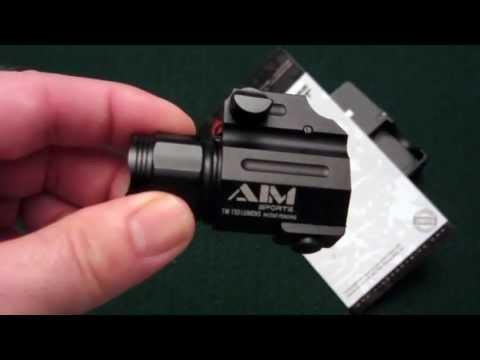 AIM Sports 150 Lumen Tactical Pistol Light Tabletop Review * Re-Post