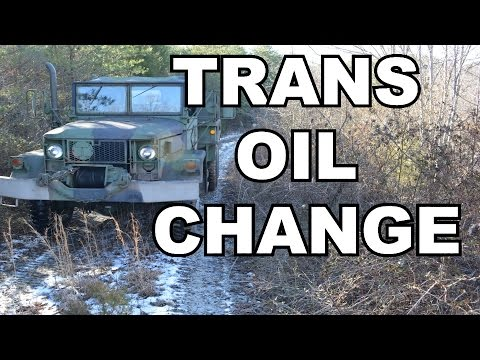 Transmission Oil Change on a M35A2 Deuce and a Half