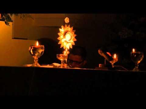 HORA SANTA CON EL SANTISIMO EXPUESTO, VIDEO EN VIVO HD