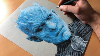 Drawing Night King - Game of Thrones - Time-lapse | Artology