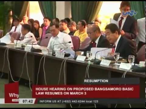 House hearing on proposed Bangsamoro Basic Law resumes on March 3