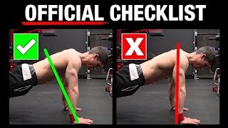 The Official Push-Up Checklist (AVOID MISTAKES!)